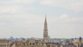 Στέγες των Βρυξελλών, άποψη από ` Mont des arts ` parc Στοκ Εικόνες