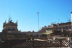 Στέγες των κτηρίων στη Βαλένθια Ισπανία στοκ εικόνες με δικαίωμα ελεύθερης χρήσης