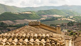Στέγες Assisi Στοκ εικόνα με δικαίωμα ελεύθερης χρήσης