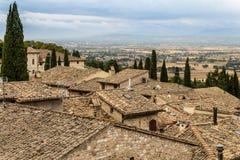 Στέγες Assisi Στοκ φωτογραφίες με δικαίωμα ελεύθερης χρήσης