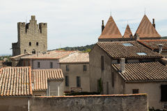 Στέγες, Carcassonne, Γαλλία Στοκ εικόνες με δικαίωμα ελεύθερης χρήσης