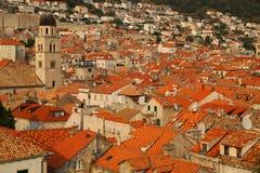 Στέγες Dubrovnik, Κροατία Στοκ Φωτογραφία