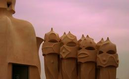 Στέγες Gaudi Στοκ εικόνα με δικαίωμα ελεύθερης χρήσης