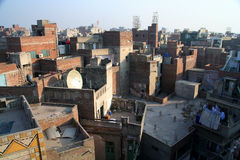 Στέγες Lahore Στοκ εικόνα με δικαίωμα ελεύθερης χρήσης