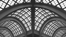 στέγη γυαλιού οικοδόμησης αψίδων στοκ φωτογραφίες με δικαίωμα ελεύθερης χρήσης