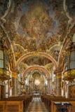 Στέγη εκκλησιών εσωτερική Αίθουσα εκκλησιών Στοκ Εικόνα