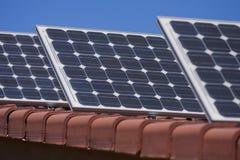 στέγη επιτροπών ηλιακή στοκ εικόνα με δικαίωμα ελεύθερης χρήσης