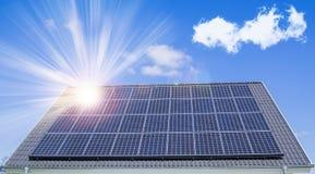 στέγη ηλιακή Στοκ Φωτογραφίες