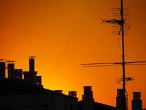 Στέγη ηλιοβασιλέματος Στοκ εικόνα με δικαίωμα ελεύθερης χρήσης