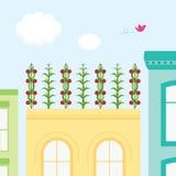 στέγη κήπων Διανυσματική απεικόνιση