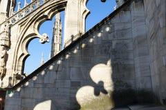 Στέγη καθεδρικών ναών του Μιλάνου Στοκ εικόνα με δικαίωμα ελεύθερης χρήσης