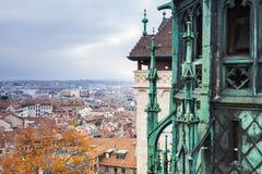 Στέγη καθεδρικών ναών του ST Peters Γενεύη Στοκ Φωτογραφία