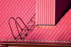 Στέγη και σκάλα Στοκ φωτογραφίες με δικαίωμα ελεύθερης χρήσης
