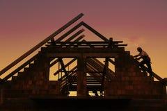 στέγη κατασκευής Στοκ φωτογραφία με δικαίωμα ελεύθερης χρήσης