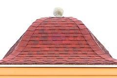 Στέγη κεραμιδιών στο άσπρο υπόβαθρο Στοκ Εικόνες