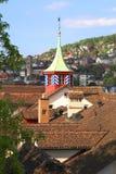 Στέγη κεραμιδιών της Ζυρίχης (Ελβετία) στοκ εικόνα με δικαίωμα ελεύθερης χρήσης