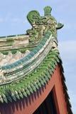 Στέγη με τα πράσινα κεραμίδια του ναού λάμα, Πεκίνο Στοκ Εικόνες