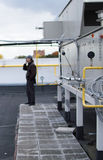 Στέγη μονάδων χειρισμού αέρα για το κεντρικό σύστημα εξαερισμού Στοκ φωτογραφία με δικαίωμα ελεύθερης χρήσης