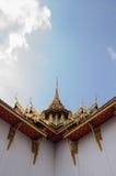 Στέγη ναών σε Wat Phra Kaew Στοκ Φωτογραφία