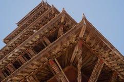 Στέγη ναών Nyatapola Bhaktapur στοκ εικόνες