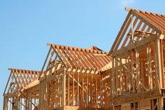 στέγη πλαισίων ξύλινη Στοκ εικόνα με δικαίωμα ελεύθερης χρήσης