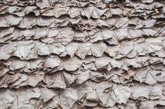 Στέγη που γίνεται από τα ξηρά φύλλα Στοκ Εικόνα