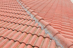 στέγη που κεραμώνεται κόκκινη Στοκ εικόνες με δικαίωμα ελεύθερης χρήσης