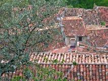 στέγη που κεραμώνεται στοκ εικόνα