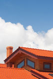 στέγη που κεραμώνεται Στοκ Φωτογραφίες