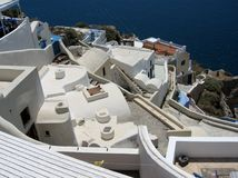 Στέγη σε Santorini Στοκ φωτογραφίες με δικαίωμα ελεύθερης χρήσης