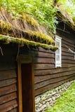 Στέγη σπιτιών που καλύπτεται με το βρύο Στοκ εικόνες με δικαίωμα ελεύθερης χρήσης