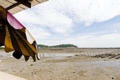 Στέγη στην παραλία. Στοκ Εικόνες