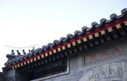 Στέγη της οικοδόμησης παραδοσιακού κινέζικου Στοκ εικόνα με δικαίωμα ελεύθερης χρήσης