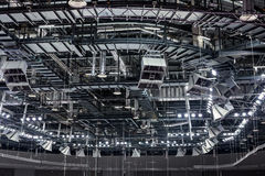 Στέγη του αθλητισμού που χτίζει από μέσα Στοκ Εικόνες