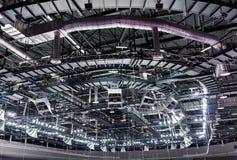 Στέγη του αθλητισμού που χτίζει από μέσα Στοκ Εικόνα
