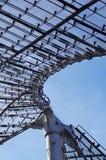 Στέγη του γυαλιού και του μετάλλου, λεπτομέρεια Στοκ φωτογραφία με δικαίωμα ελεύθερης χρήσης