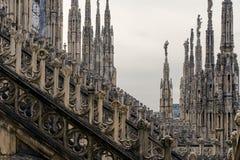 Στέγη του καθεδρικού ναού Duomo, Μιλάνο στοκ εικόνες με δικαίωμα ελεύθερης χρήσης