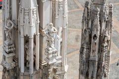 Στέγη του καθεδρικού ναού Duomo, Μιλάνο στοκ εικόνες