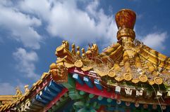 Στέγη του κινεζικού gazebo κήπων Στοκ φωτογραφία με δικαίωμα ελεύθερης χρήσης