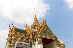 Στέγη του ναού Wat Po Στοκ Εικόνα