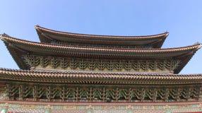 Στέγη του ναού Yakchunsa βουδισμού στοκ εικόνες