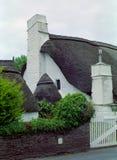 στέγη του Ντέβον Αγγλία thatch Στοκ Εικόνες