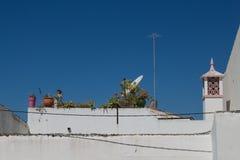 Στέγη του πορτογαλικού σπιτιού, Estoi, Πορτογαλία στοκ φωτογραφίες