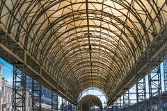 Στέγη του σιδηροδρομικού σταθμού σε Kharkov, Ουκρανία Στοκ Εικόνα