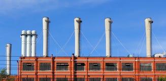 Στέγη του σταθμού θερμότητας Στοκ Εικόνα