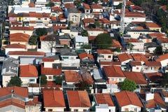 Στέγη των βραζιλιάνων πόλεων Στοκ φωτογραφία με δικαίωμα ελεύθερης χρήσης