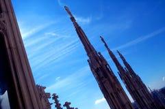 στέγη 2 καθεδρικών ναών στοκ εικόνες