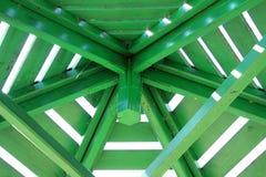 στέγη gazebo κατασκευής Στοκ Εικόνες