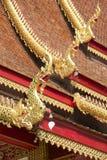 Στέγη Wat Mani Phraison, μέθυσος της Mae, επαρχία Tak, Ταϊλάνδη στοκ φωτογραφία