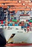 Στέλνοντας τερματικό εμπορευματοκιβωτίων θάλασσας σκαφών Στοκ Εικόνες